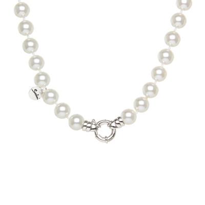 Girocollo di grandi perle e anello splendente Pearl